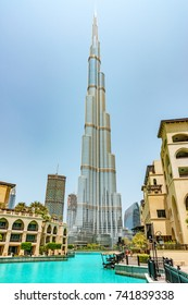 DUBAI, UAE - August 18: Burj Khalifa in Dubai, United Arab Emirates on August 18, 2017.