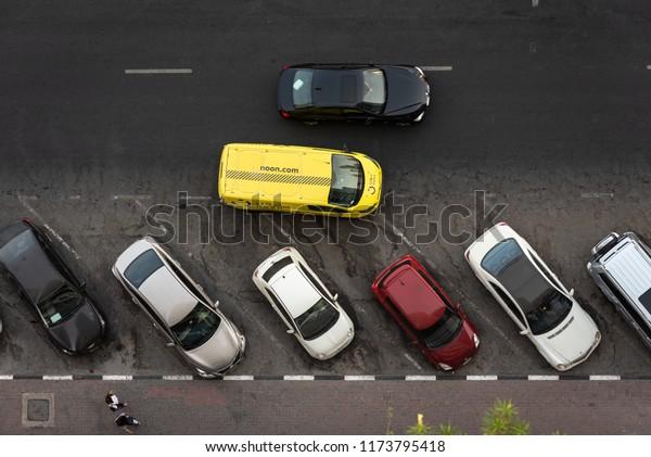 Dubai Uae August 2018 Van Car Stock Photo (Edit Now) 1173795418