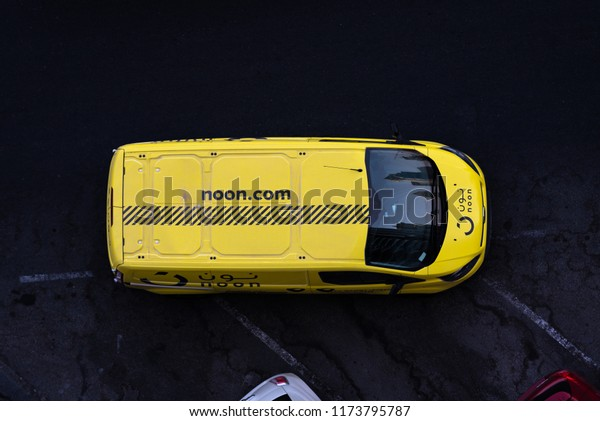 Dubai Uae August 2018 Van Car Stock Photo (Edit Now) 1173795787