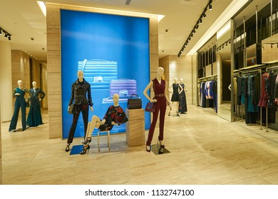 DUBAI, UAE - CIRCA OCTOBER, 2014: interior shot of apparel store in The Dubai Mall