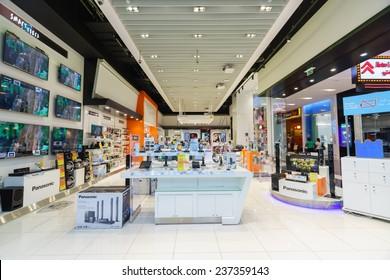 DUBAI, UAE - CIRCA OCTOBER, 2014: inside the Dubai Mall. The Dubai Mall is the largest shopping mall in the world by total area.