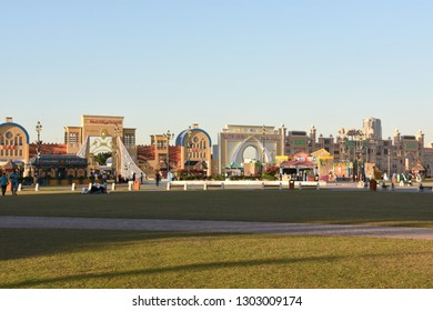 DUBAI, UAE - DEC 12: Global Village in Dubai, UAE, as seen on Dec 12, 2018. The Global Village is claimed to be the world's largest tourism, leisure and entertainment project.