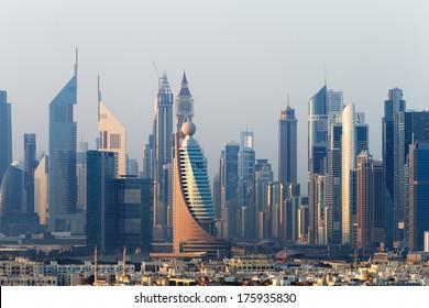 DUBAI, UAE - DEC 18: The Most Exciting City of Architecture in the Middle East on Dec 18, 2013 in Dubai, UAE.