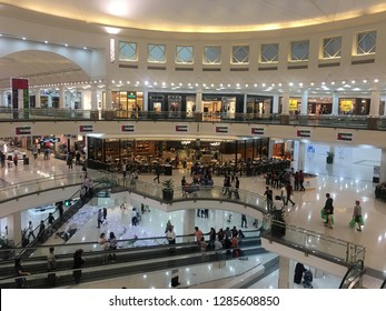 DUBAI, UAE - DEC 3: Deira City Centre in Dubai, UAE, as seen on Dec 3, 2018. The mall opened in 1995 and is the original flagship mall in the Majid Al Futtaim Properties portfolio.