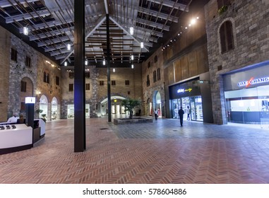 DUBAI, UAE - DEC 7, 2016: The new Outlet Village shopping mall in Dubai. United Arab Emirates, Middle East