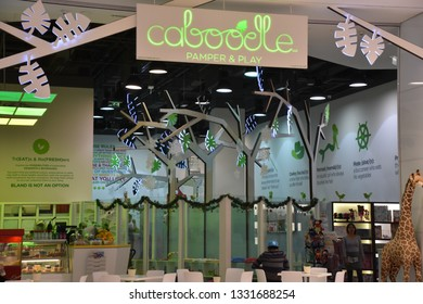 DUBAI, UAE - DEC 8: Caboodle at Dubai Mall in Dubai, UAE, on Dec 8, 2018. At over 12 million sq ft, it is the world's largest shopping mall based on total area and 6th largest by gross leasable area.