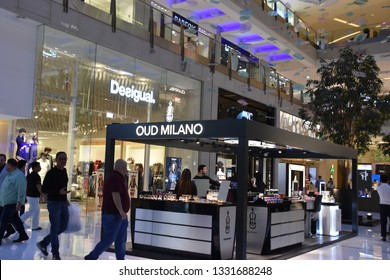 DUBAI, UAE - DEC 8: Desigual at Dubai Mall in Dubai, UAE, on Dec 8, 2018. At over 12 million sq ft, it is the world's largest shopping mall based on total area and 6th largest by gross leasable area.