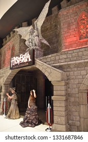 DUBAI, UAE - DEC 8: Hysteria at Dubai Mall in Dubai, UAE, on Dec 8, 2018. At over 12 million sq ft, it is the world's largest shopping mall based on total area and 6th largest by gross leasable area.