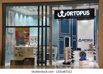 DUBAI, UAE - DEC 8: Ortopus at Dubai Mall in Dubai, UAE, n Dec 8, 2018. At over 12 million sq ft, it is the world's largest shopping mall based on total area and 6th largest by gross leasable area.