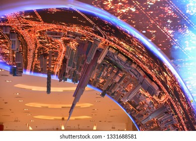 DUBAI, UAE - DEC 8: VR Park at Dubai Mall in Dubai, UAE, on Dec 8, 2018. At over 12 million sq ft, it is the world's largest shopping mall based on total area and 6th largest by gross leasable area.