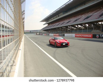 Dubai / UAE December 12 2018 : Autodrome Race track, A racing car