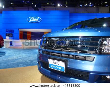 Dubai Uae December  Ford Edge On Display During Dubai Motor Show