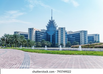 DUBAI, UAE - DECEMBER 4, 2016: Silicon Oasis Headquarters building. Dubai Academic City, United Arab Emirates.