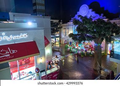 DUBAI, UAE - DECEMBER 5: Kidzania - kids section at Dubai Mall. KidZania Dubai provides children and their parents a safe and very realistic educational environment on December 5, 2015 in Dubai