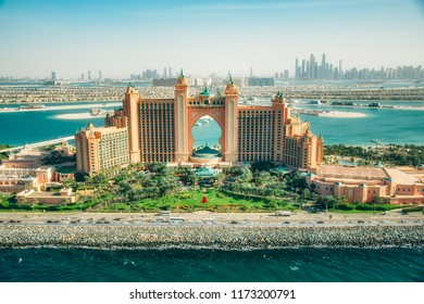 Dubai, UAE - December 9, 2014: Atlantis hotel on Palm Jumeirah island, Dubai