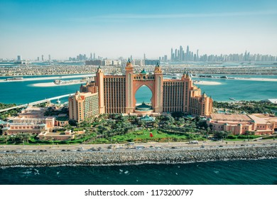 Dubai, UAE - December 9, 2014: Atlantis hotel on Palm Jumeirah island, Dubai