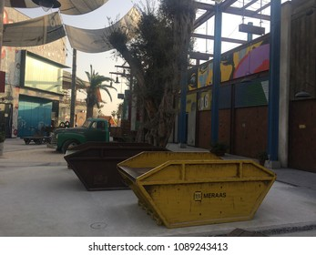 DUBAI, UAE - FEB 15: La Mer in Dubai, UAE, as seen on Feb 15, 2018. It is a new beachfront district with shopping and restaurants in Jumeirah.