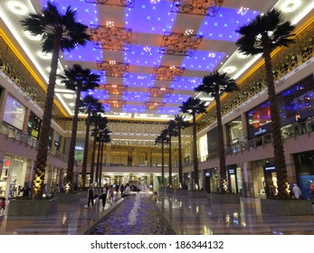 DUBAI, UAE - FEB 18: Mirdif City Centre in Dubai, UAE, as seen on Feb 18, 2014,. It is the first shopping mall in the region to be awarded Gold LEED rating for its environmentally sustainable design.