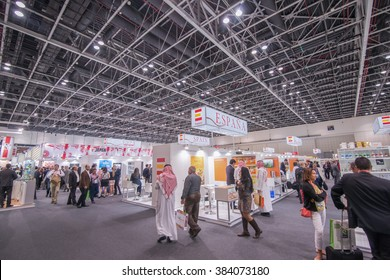 Dubai, UAE  - February, 21-25, 2016: Gulfood International Exhibition in Dubai World Trade Center : Food Exhibition in Gulf Region in MENA at DWTC, DUBAI
