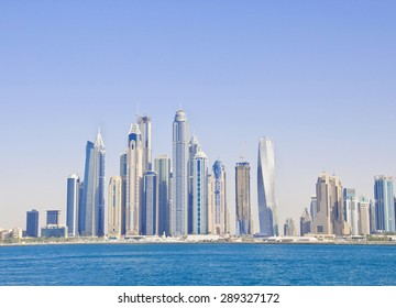 DUBAI, UAE - FEBRUARY 24: General view of the Dubai Marina, on February 24, 2015, Dubai, UAE.