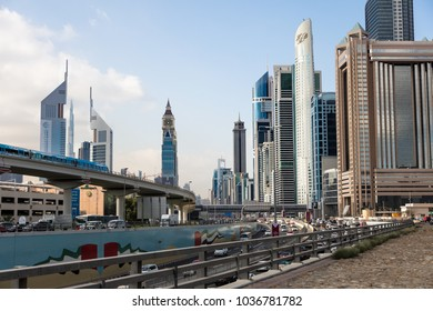 Dubai, UAE - February 26, 2018: the great building architecture