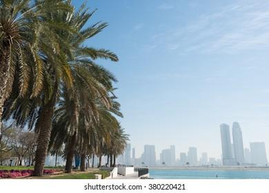 DUBAI, UAE - FEBRUARY 8, 2016: AL MAMZAR BEACH PARK