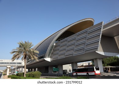 DUBAI, UAE - JAN 13: New Metro Station in the city of Dubai. January 13, 2012 in Dubai, United Arab Emirates
