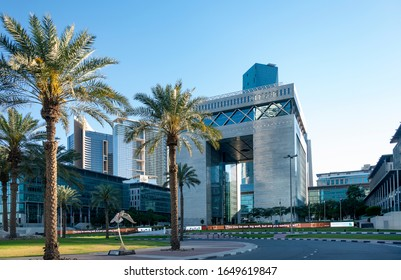Dubai, UAE. January, 2020. Established two decades ago DIFC (Dubai International Financial Centre) became a leading financial hud servicing Middle East, Africa and South Asia (MEASA) market.The Gate.