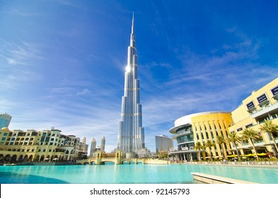 DUBAI, UAE - JANUARY 4: Burj Khalifa, world's tallest tower, Downtown Burj Dubai January 4, 2012 in Dubai, United Arab Emirates.