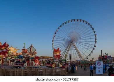 DUBAI, UAE - JANYARY 11, 2016: Picture of Fair Global Village.