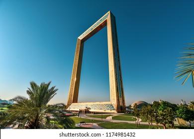 Dubai, UAE, July 01 2018 : Dubai Frame