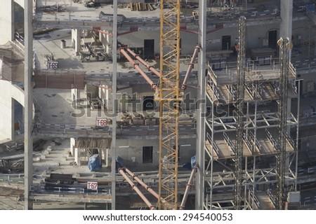 DUBAI UAE JUNE 15 Construction Activity Stock Photo (Edit Now