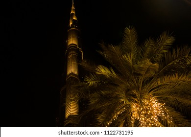 DUBAI - UAE, JUNE 19: Burj Khalifa tower in the evening light on June 19, 2018