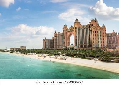 DUBAI, UAE - JUNE 26, 2018: Atlantis, The Palm Hotel in Dubai, United Arab Emirates