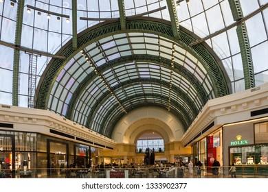 Dubai, UAE - March 10, 2019: Mall of Emirates interior.