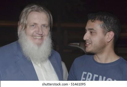 DUBAI, UAE - MARCH 18: Yusuf Estes, formerly Skip Estes, is a Islam revert, and islamic scholar, attends 'Dubai International Peace Conference' on Mar 18 to 20, 2010 in Dubai Airport Expo, Dubai, UAE.