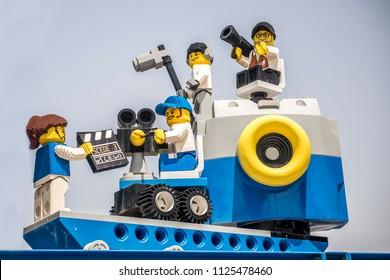 Dubai, Dubai, UAE - March 30, 2018 - Lego Land Dubai in Dubai Parks And Resorts, Lego cinema