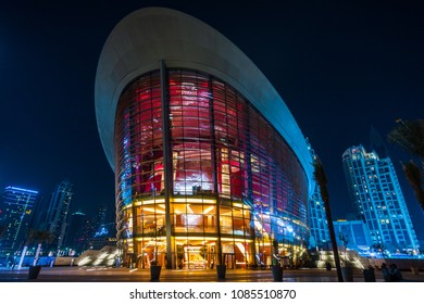 DUBAI, UAE - May 08, 2018: Opera House Beautiful Opera House of Dubai