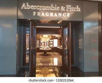 DUBAI, UAE- May 6 :Abercrombie & fitch store in Mall of the Emirates in Dubai, UAE ,as seen on May 6 ,2018. It is the second largest mall in Dubai containing the biggest indoor ski slope in the world,