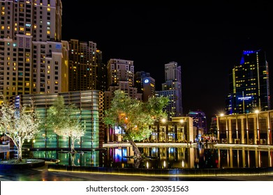 DUBAI, UAE -NOV 16, 2014 : View of modern skyscrapers in Jumeirah beach residence on November 16, 2014 in Dubai, JBR - artificial canal city, carved along a 3 km stretch of Persian Gulf shoreline.