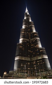 Dubai, UAE - Nov 23, 2013: Burj Khalifa Tower, the highest building in the world as of Feb. 2014