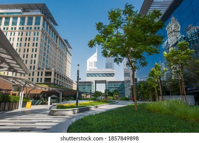 Dubai, UAE, November 13, 2020. Gate Avenue, New destination in DIFC.