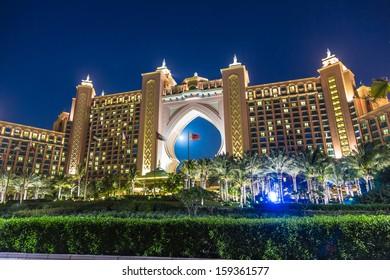 DUBAI, UAE - NOVEMBER 13: Atlantis hotel on November 13, 2012 in Dubai, UAE. Atlantis the Palm is a luxury 5 star hotel built on an artificial island