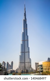 DUBAI, UAE - NOVEMBER 13: Burj Khalifa on November 13, 2012 in Dubai, UAE. Burj Khalifa is currently the tallest building in the world, at 829.84 m (2,723 ft).