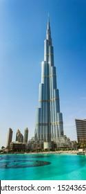 DUBAI, UAE - NOVEMBER 14: High rise buildings and streets nov 14. 2012  in Dubai, UAE.  Burj Khalifa, the tallest building in the world
