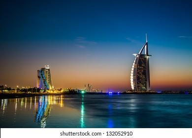 DUBAI, UAE - NOVEMBER 14 :The world's first seven stars luxury hotel Burj Al Arab, on November 14, 2012 in Dubai, United Arab Emirates