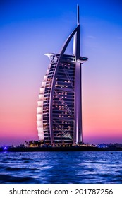 DUBAI, UAE - NOVEMBER 14 :The world's first seven stars luxury hotel Burj Al Arab, November 14, 2012 in Dubai, United Arab Emirates