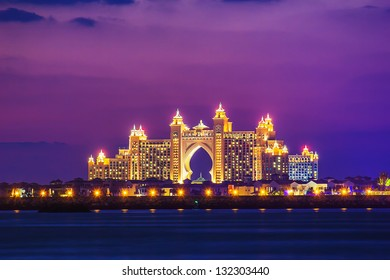 DUBAI, UAE - NOVEMBER 17: Atlantis Hotel  in Dubai. UAE. November 17, 2012. The newly opened multi-million dollar Atlantis Resort, Hotel & Theme Park at the Palm Jumeirah Island in Dubai 17, 2012