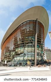 DUBAI, UAE - November 18 2017: the new Dubai Opera House.
