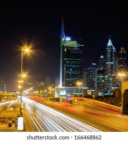 DUBAI, UAE - NOVEMBER 18: General view of Dubai at night, on November 18, 2012, Dubai, UAE. Dubai was the fastest developing city in the world between 2002 and 2008.